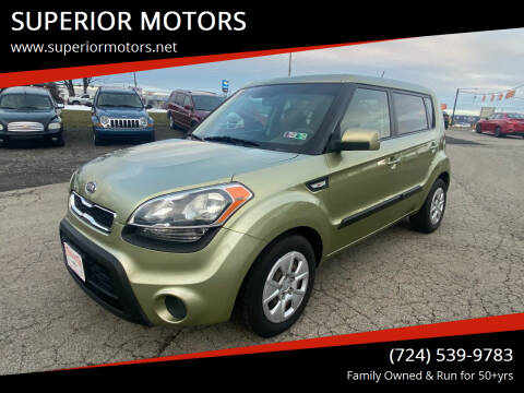 2012 Kia Soul for sale at SUPERIOR MOTORS in Latrobe PA