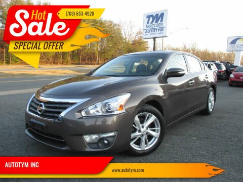 2013 Nissan Altima for sale at AUTOTYM INC in Fredericksburg VA