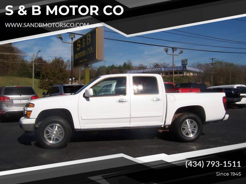 2012 Chevrolet Colorado for sale at S & B MOTOR CO in Danville VA