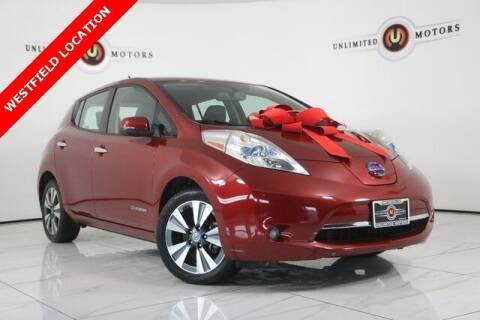 2013 Nissan LEAF for sale at INDY'S UNLIMITED MOTORS - UNLIMITED MOTORS in Westfield IN