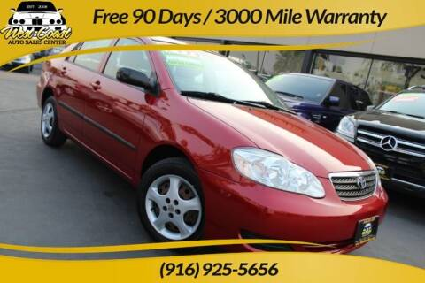 2006 Toyota Corolla for sale at West Coast Auto Sales Center in Sacramento CA