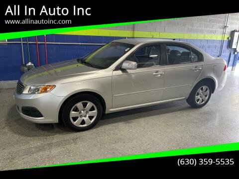 2009 Kia Optima for sale at All In Auto Inc in Addison IL