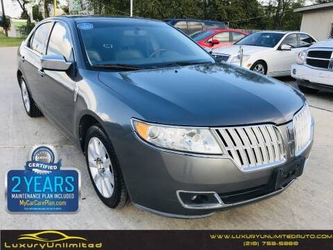 2010 Lincoln MKZ for sale at LUXURY UNLIMITED AUTO SALES in San Antonio TX