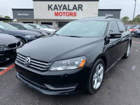 2013 Volkswagen Passat for sale at KAYALAR MOTORS in Houston TX