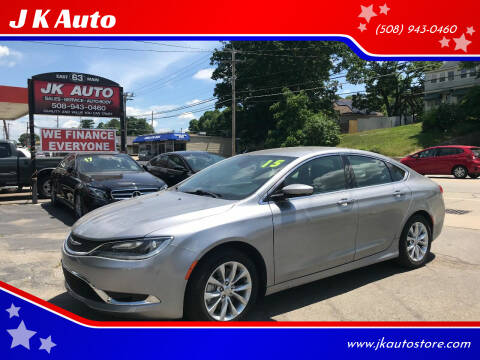 2015 Chrysler 200 for sale at Webster Auto Sales in Webster MA