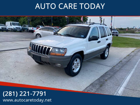 2002 Jeep Grand Cherokee for sale at AUTO CARE TODAY in Spring TX