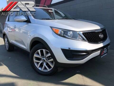 2015 Kia Sportage for sale at Auto Republic Fullerton in Fullerton CA