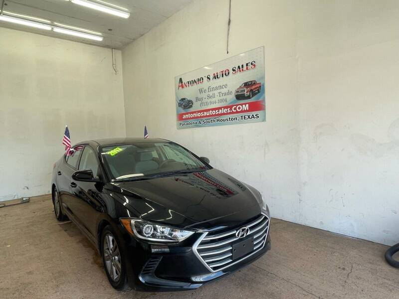 2017 Hyundai Elantra for sale at Antonio's Auto Sales - Antonio`s  2206 in Pasadena TX