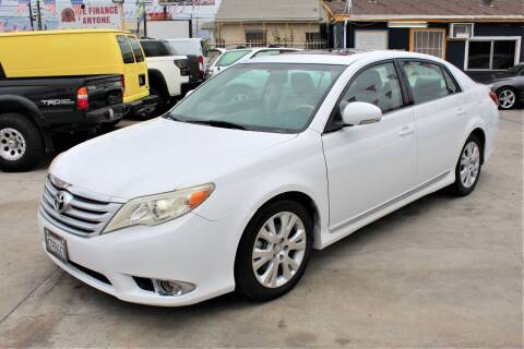 2011 Toyota Avalon for sale at Good Vibes Auto Sales in North Hollywood CA