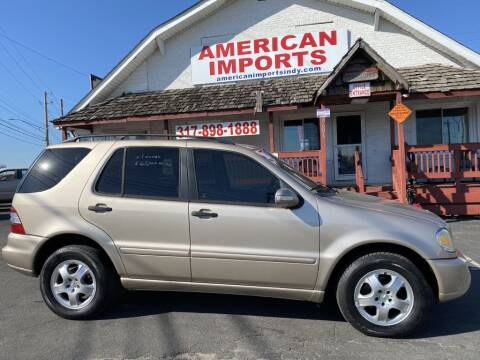 2003 Mercedes-Benz M-Class for sale at American Imports INC in Indianapolis IN