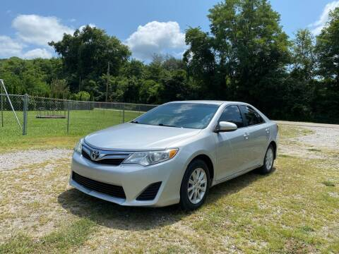 2012 Toyota Camry for sale at Tennessee Valley Wholesale Autos LLC in Huntsville AL