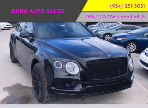 2018 Bentley Bentayga for sale at Guru Auto Sales in Miramar FL