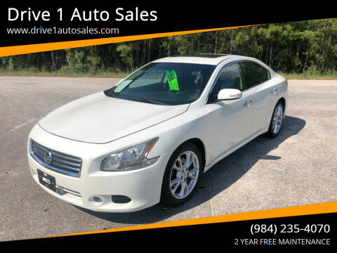 2013 Nissan Maxima for sale at Drive 1 Auto Sales in Wake Forest NC