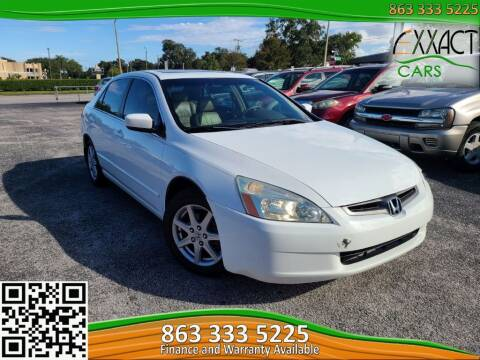 2003 Honda Accord for sale at Exxact Cars in Lakeland FL