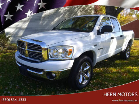 2008 Dodge Ram Pickup 1500 for sale at Hern Motors - 2021 BROOKFIELD RD Lot in Hubbard OH
