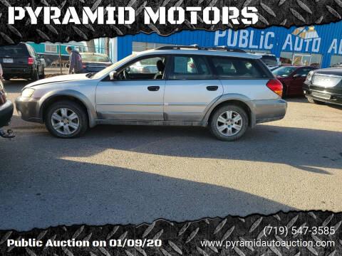 2005 Subaru Outback for sale at PYRAMID MOTORS - Pueblo Lot in Pueblo CO
