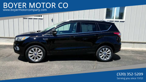 2017 Ford Escape for sale at BOYER MOTOR CO in Sauk Centre MN