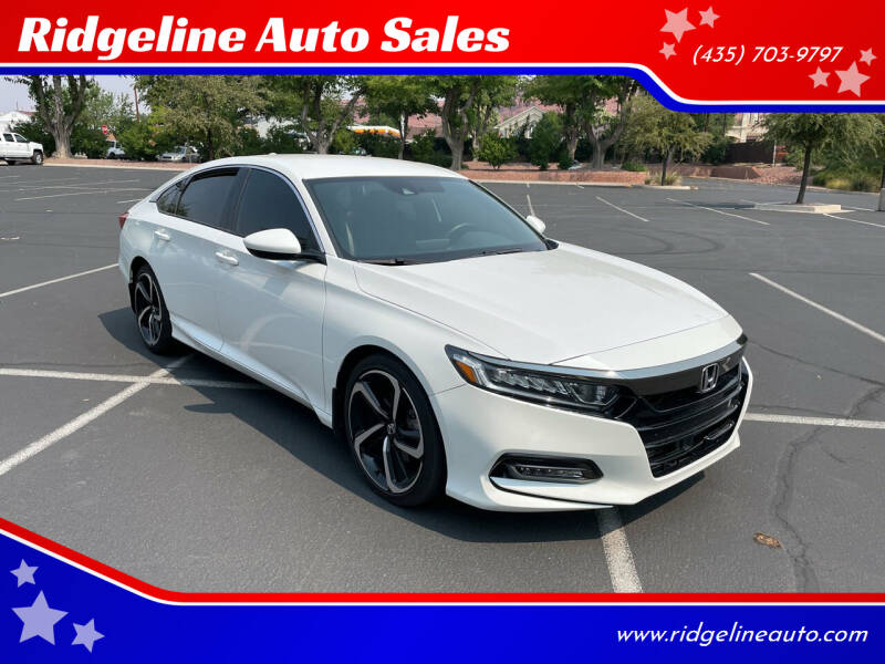 2018 Honda Accord for sale at Ridgeline Auto Sales in Saint George UT