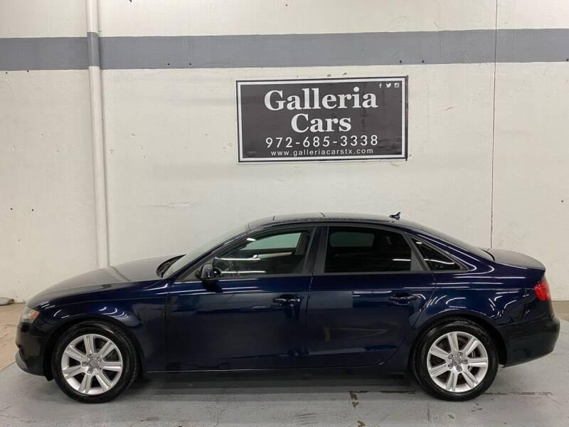 2010 Audi A4 for sale at Galleria Cars in Dallas TX