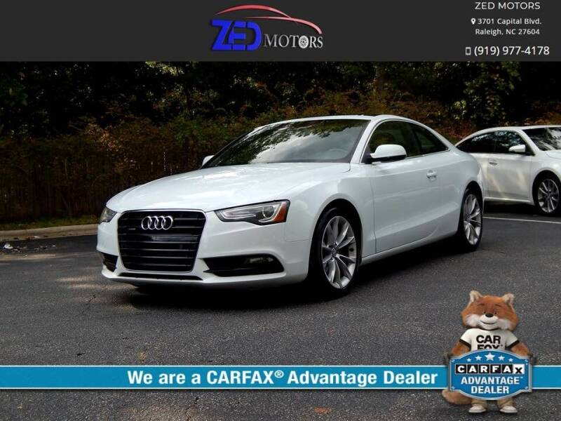 2014 Audi A5 for sale at Zed Motors in Raleigh NC