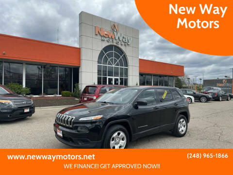 2015 Jeep Cherokee for sale at New Way Motors in Ferndale MI