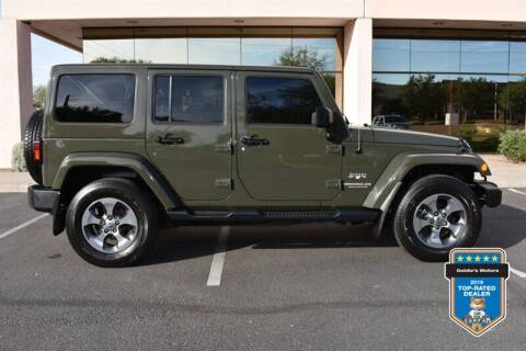 2016 Jeep Wrangler Unlimited for sale at GOLDIES MOTORS in Phoenix AZ
