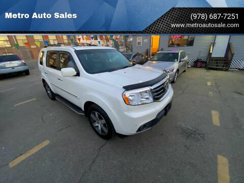 2012 Honda Pilot for sale at Metro Auto Sales in Lawrence MA