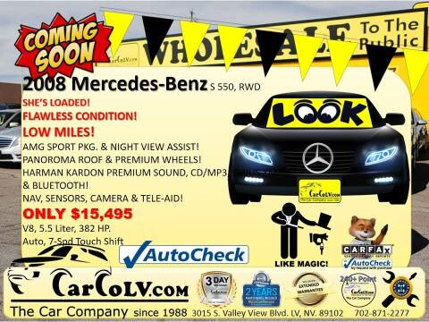 2008 Mercedes-Benz S-Class for sale at The Car Company in Las Vegas NV