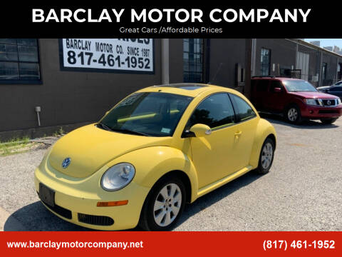 2010 Volkswagen New Beetle for sale at BARCLAY MOTOR COMPANY in Arlington TX