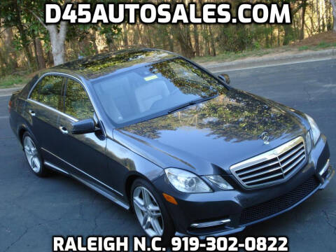 2013 Mercedes-Benz E-Class for sale at D45 Auto Brokers in Raleigh NC