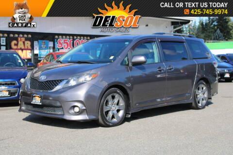 2011 Toyota Sienna for sale at Del Sol Auto Sales in Everett WA