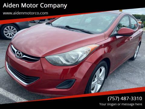 2013 Hyundai Elantra for sale at Aiden Motor Company in Portsmouth VA