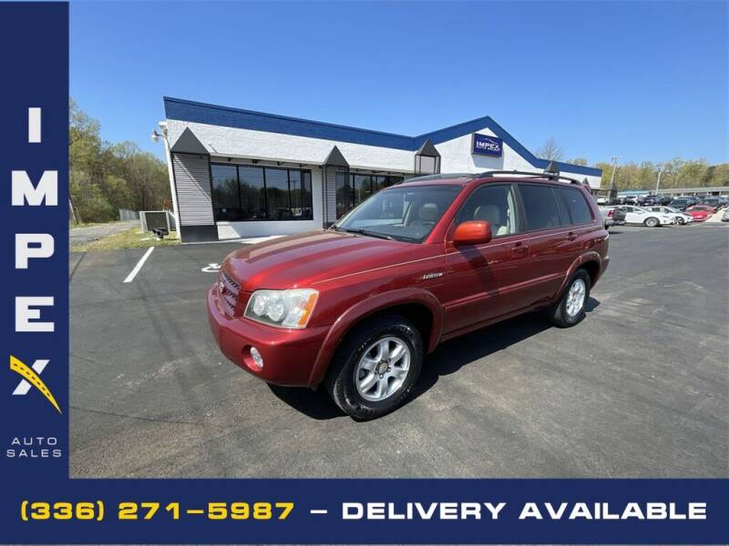 2003 Toyota Highlander for sale at Impex Auto Sales in Greensboro NC