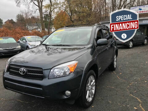 2007 Toyota RAV4 for sale at VERNON MOTOR CARS in Vernon Rockville CT