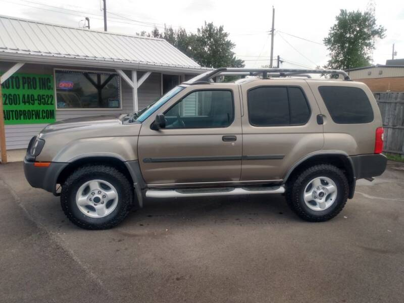 2003 Nissan Xterra for sale at Auto Pro Inc in Fort Wayne IN