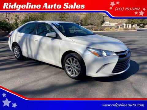 2015 Toyota Camry for sale at Ridgeline Auto Sales in Saint George UT