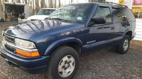 2002 Chevrolet Blazer for sale at Ray's Auto Sales in Elmer NJ