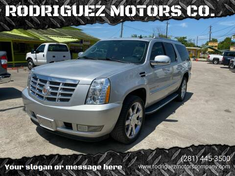 2012 Cadillac Escalade ESV for sale at RODRIGUEZ MOTORS CO. in Houston TX