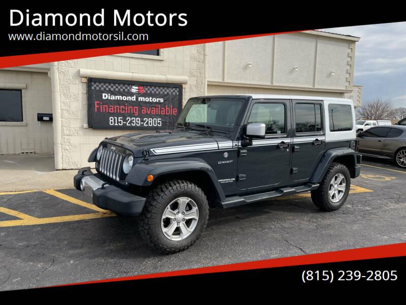 2017 Jeep Wrangler Unlimited for sale at Diamond Motors in Pecatonica IL