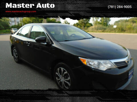 2012 Toyota Camry for sale at Master Auto in Revere MA