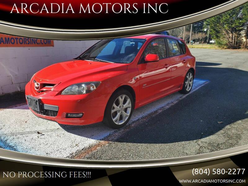 2008 Mazda MAZDA3 for sale at ARCADIA MOTORS INC in Heathsville VA