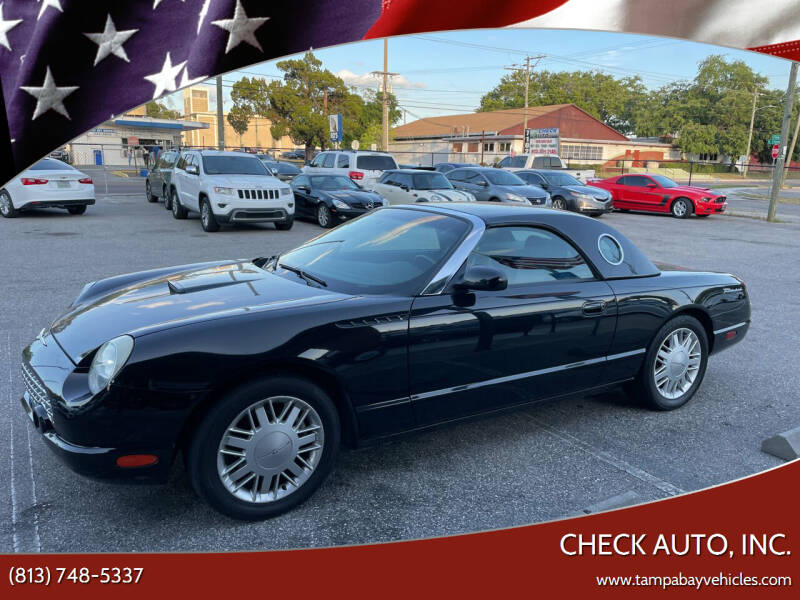 2002 Ford Thunderbird for sale at CHECK AUTO, INC. in Tampa FL