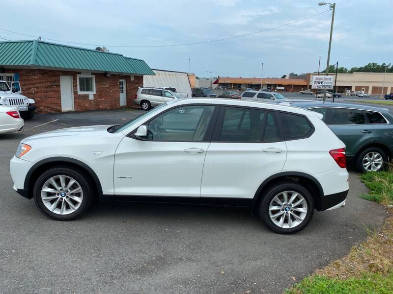 2014 BMW X3 for sale at Main Street Auto LLC in King NC