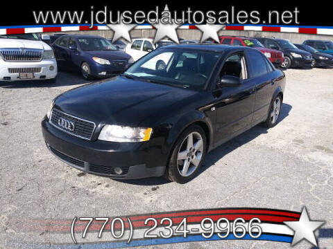 2002 Audi A4 for sale at J D USED AUTO SALES INC in Doraville GA