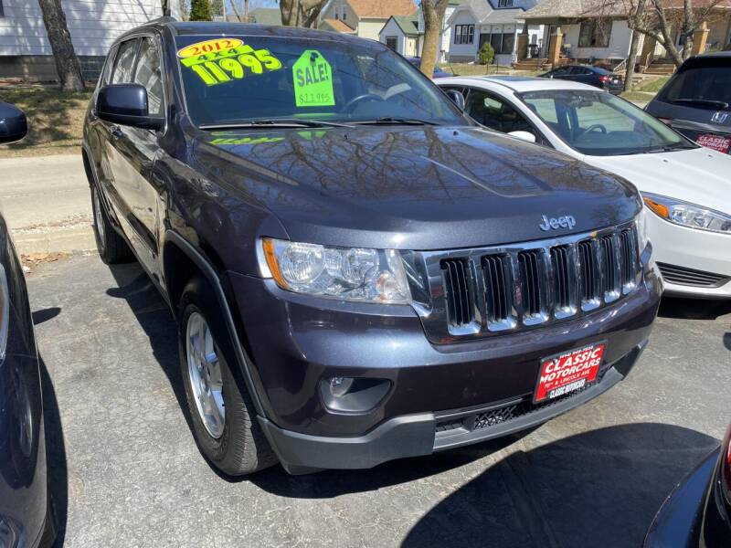 2012 Jeep Grand Cherokee for sale at CLASSIC MOTOR CARS in West Allis WI