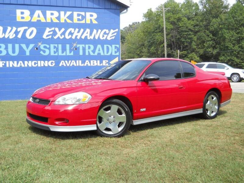 2006 Chevrolet Monte Carlo for sale at BARKER AUTO EXCHANGE in Spencer IN