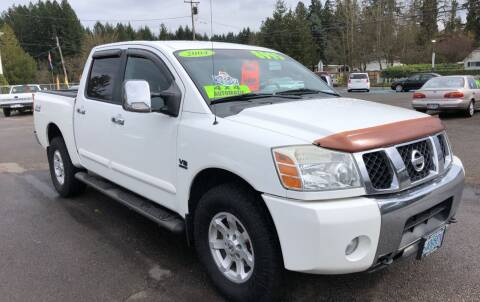 2004 Nissan Titan for sale at Freeborn Motors in Lafayette, OR