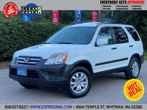 2005 Honda CR-V for sale at Auto Sales Express in Whitman MA