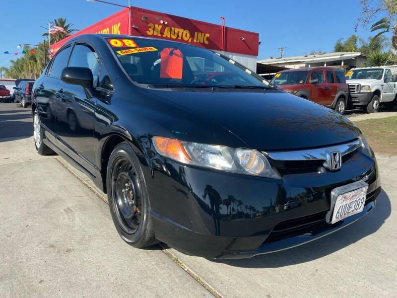2008 Honda Civic for sale at 3K Auto in Escondido CA