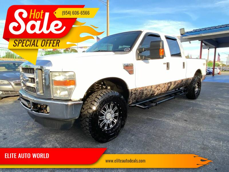 2010 Ford F-250 Super Duty for sale at ELITE AUTO WORLD in Fort Lauderdale FL